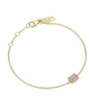 I.Ma.Gi.N. Jewels Armband Moonstone White Gold