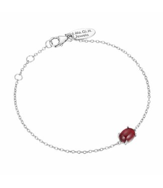 I.Ma.Gi.N. Jewels I.Ma.Gi.N Armband Moonstone Red