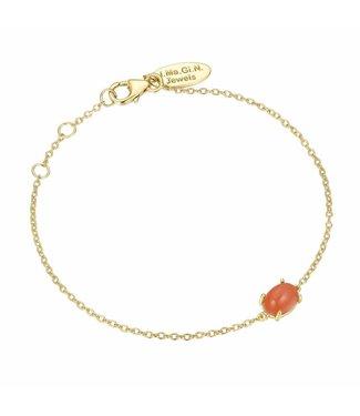I.Ma.Gi.N. Jewels Armband Moonstone Orange