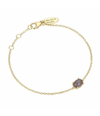 I.Ma.Gi.N. Jewels Armband Moonstone Grey