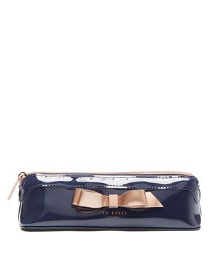 Ted Baker Casella Bow pencil case dark blue