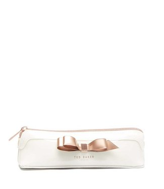 Ted Baker Casela  Bow pencil bag ivory