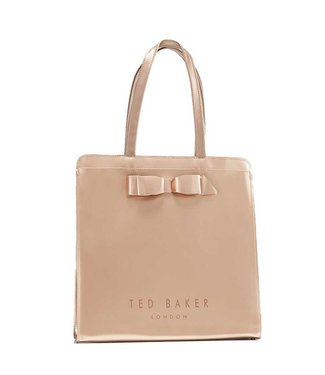 Ted Baker Almacon Core bow large icon bag rose gold