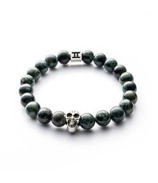Gemini Armband Skull Green
