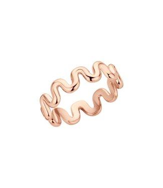 MelanO Ring Crinkle Rosegoud