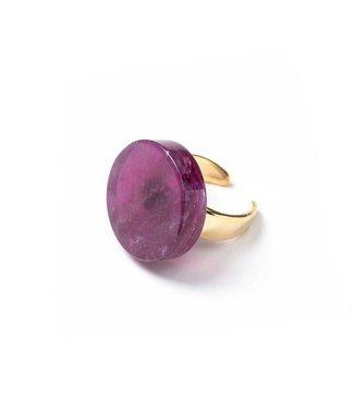 Laurence Delvallez Ring Soul Purple