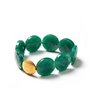 Laurence Delvallez Armband Oni green