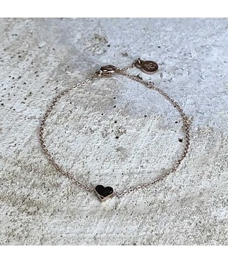 Miracles Bracelet Love - Stainless Steel RG with small heart