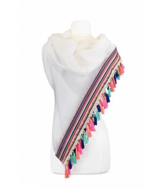 Miracles SCARF CURACAO - WHITE