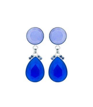 Souvenirs de Pomme Oorring 2drops mini Blue