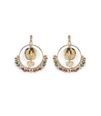 Hipanema eclipse earrings in multicolors