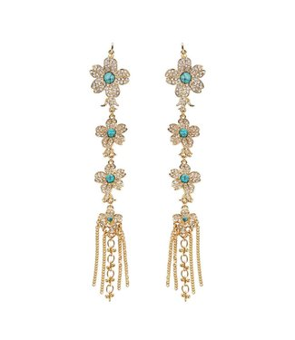 Hipanema bliss clip earrings in gold