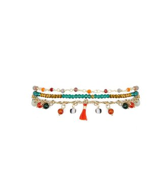 Hipanema harem bracelet in red