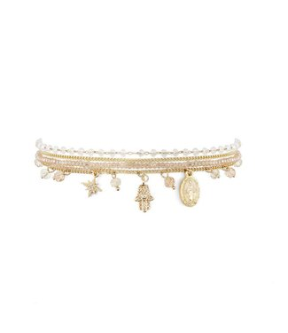 Hipanema Bracelet Amulette white