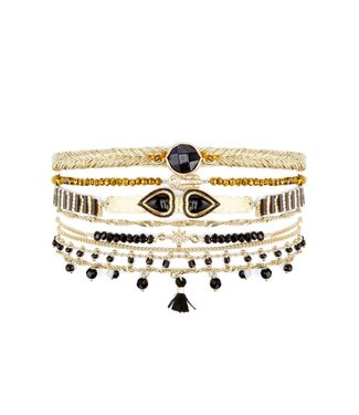 Hipanema splendor cuff in black