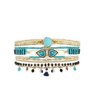 Hipanema splendor cuff in turquoise