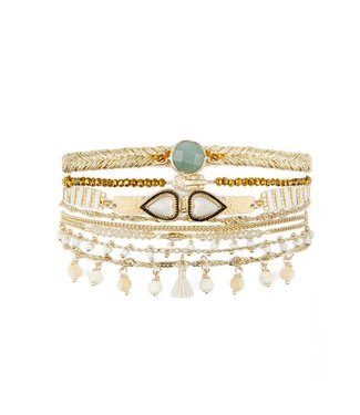 Hipanema splendor cuff in white
