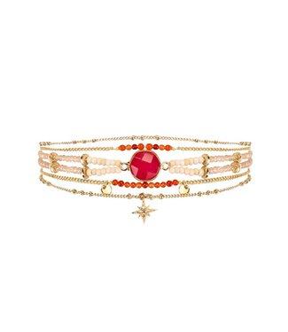 Hipanema Armband Mambo Red