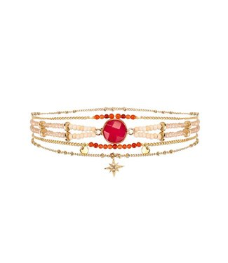 Hipanema mambo cuff in red