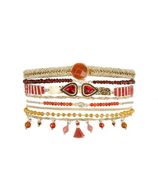Hipanema splendor cuff in red