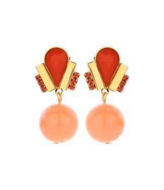 Souvenirs de Pomme Ducre short earring orange