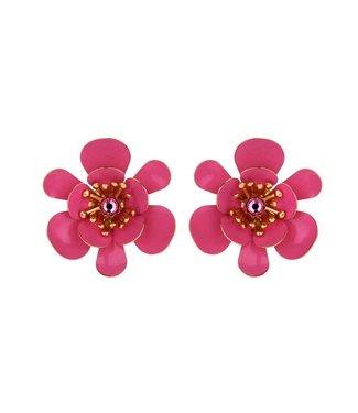 Souvenirs de Pomme Gina shortie statement earring fuchsia