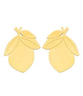 Souvenirs de Pomme Mini Lemon shortie earring gold