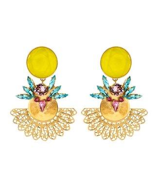 Souvenirs de Pomme Roberta statement earring multicolour