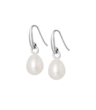 Sence Copenhagen Essentials earrings Frw. Pearl matt silver