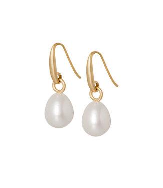 Sence Copenhagen Essentials earrings Frw. Pearl matt gold