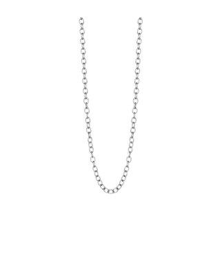 Essentials necklace matt silver - 60 cm