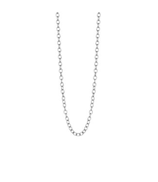 Sence Copenhagen Essentials necklace matt silver - 60 cm