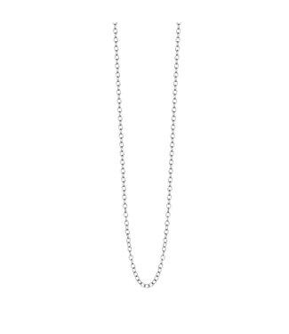 Essentials necklace matt silver - 90 cm