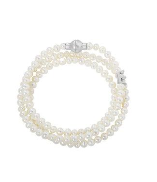 Sence Copenhagen Essentials bracelet Freshwater Pearls matt silver