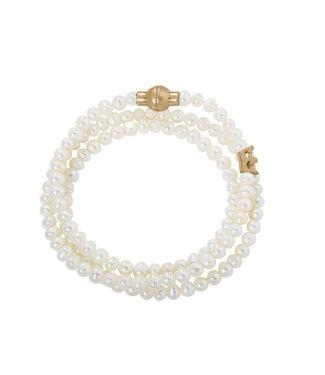 Essentials bracelet Freshwater Pearls matt gold