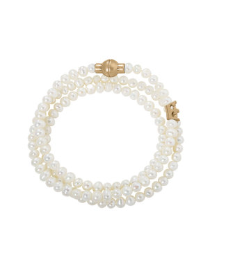 Sence Copenhagen Essentials bracelet Freshwater Pearls matt gold
