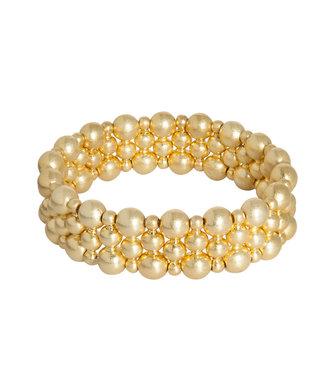 Sence Copenhagen Dance bracelet matt gold