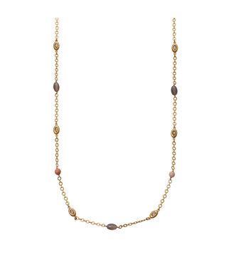 Sence Copenhagen Sunbeam necklace matt silver - 95 cm