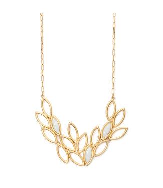 Sence Copenhagen Birch necklace Aquamarine matt gold - 45 cm
