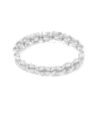 Sence Copenhagen Clover bracelet matt silver