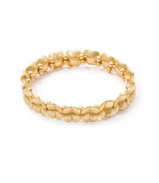 Sence Copenhagen Clover bracelet matt gold
