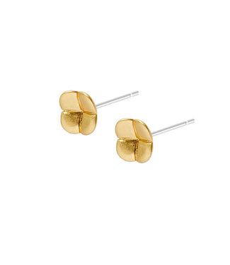 Sence Copenhagen Clover earstuds matt gold