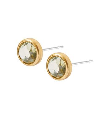 Sence Copenhagen Celebration earstuds matt gold khaki