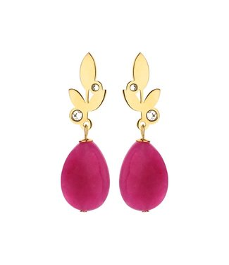 Souvenirs de Pomme Lilly short classic earring fuchsia