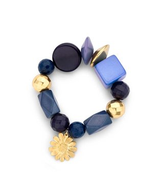 Souvenirs de Pomme Beaded candy armband navy