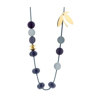 Souvenirs de Pomme Long Cordy Florence necklace navy