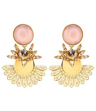 Souvenirs de Pomme Roberta statement earring nude