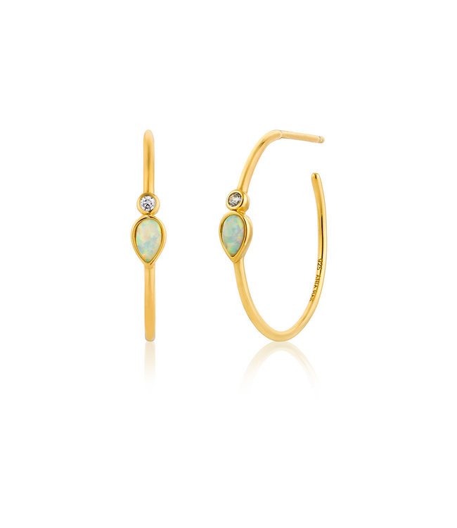 Ania Haie Oorring Opal Colour raindrop Hoop