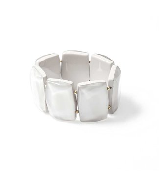 Laurence Delvallez Armband EEK White