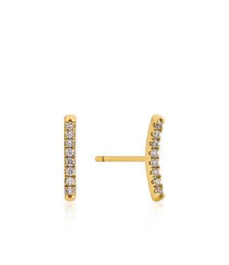Ania Haie earring Shimmer Pavé bar stud
